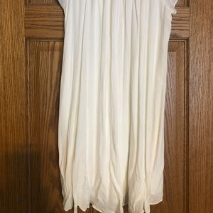 Talula Dresses - White Cinched Off-the-Shoulder Dress